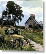Farmed Out Metal Print