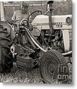 Farmer And His Tractor Metal Print