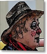 Farmer Clown Metal Print