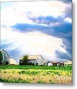Farmer's Field At Sundown Metal Print