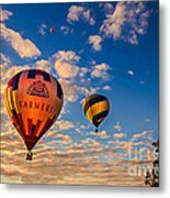Farmer's Insurance Hot Air Ballon Metal Print by Robert Bales