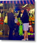 Farmers Market Bushels And Baskets Of Apples Fruit And Vegetables Food Art Scenes Carole Spandau Metal Print