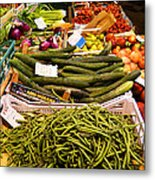 Farmers Market Florence Italy Metal Print