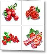 Farmers Market Gifts Red Vitamins Metal Print