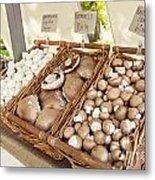 Farmers Market Mushrooms Metal Print