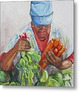 Farmers Market Vendor Metal Print by Sharon Sorrels