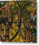 Farmers Tools Of Old Metal Print
