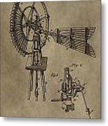 Farmer's Windmill Metal Print