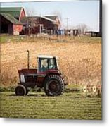 Farmer's Work Is Never Done Metal Print