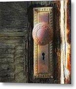 Farmhouse Doorknob Metal Print
