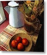 Farmhouse Fruit And Flowers Metal Print