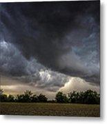 Farmland Storm Metal Print