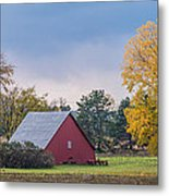Farmstead With Fall Colors Metal Print by Paul Freidlund