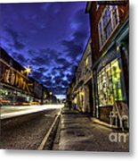 Farnham West St By Night Metal Print