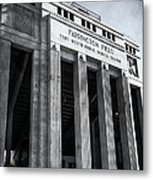 Farrington Field Facade Bw Metal Print
