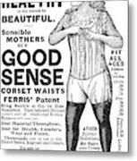 Fashion Corset, 1890 Metal Print