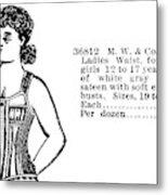 Fashion Corset, 1895 Metal Print