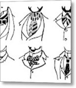 Fashion Cravats And Ties Metal Print