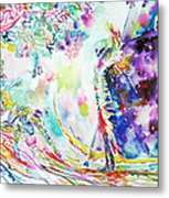 Fashion Lady And Death Under A Tree Metal Print