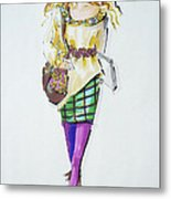 Fashion On The Run Metal Print
