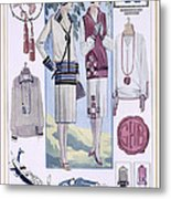 Fashion Plate, From La Femme Chic Metal Print
