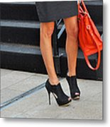 Fashion Week Shoes Metal Print