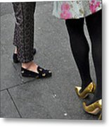 Fashionable Shoes Metal Print