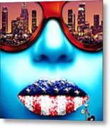 Fashionista Los Angeles Silver Metal Print