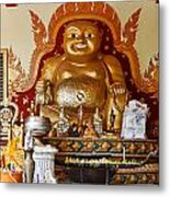 Fat Gold Budda Metal Print