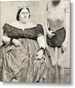 Fat Lady & Thin Man Metal Print