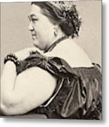 Fat Lady, 19th Century Metal Print