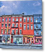 Father And Son - Manhattan Bike Ride Metal Print
