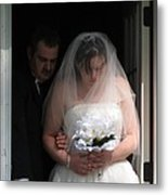 Father Daughter Thoughts Metal Print