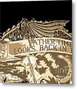Father Time Looks Back Metal Print
