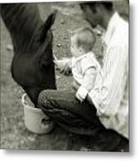 Father's Touch Metal Print