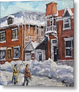 Faubourg A Melasse Montreal - Joys Of Winter By Prankearts Metal Print