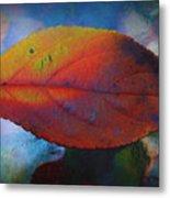 Fauvist Hydrangea Leaf Metal Print