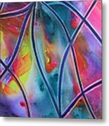 Faux Stained Glass II Metal Print
