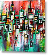 Favelas - Abstract Art By Laura Gomez Metal Print
