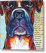 Fawn Boxer Love Metal Print