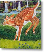 Fawn In The Holle Metal Print