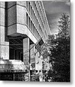 Fbi Building Modern Fortress Metal Print