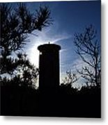 Fct1 Fire Control Tower 1 In Silhouette Metal Print