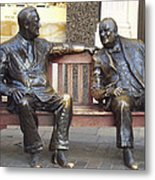 Fdr And Churchill Having A Chat In London Metal Print