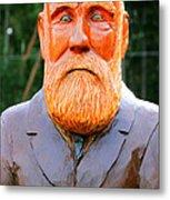 Fear The Beard Golfer Metal Print