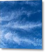 Feather Clouds On Blue Sky Metal Print