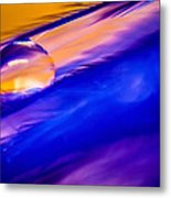 Feather Sunset Metal Print