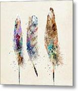 Feathers Metal Print by Bri B