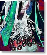 Feathers Fringe And Bells Metal Print