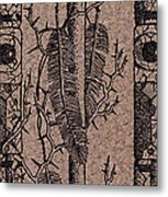 Feathers Thorns And Broken Arrow Bookmark No1 Metal Print